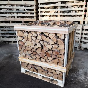 Crate of Kiln Dried Oak Logs